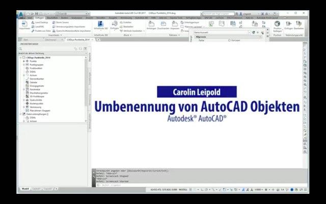 Umbenennung von AutoCAD Objekten - Autodesk® AutoCAD® DU - CADsys