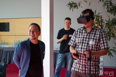 Virtual Reality Präsentation auf dem CADsys Inventor Day 2017