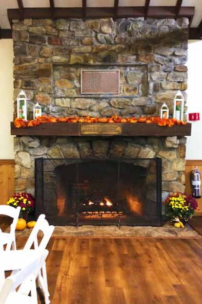 fireplace at Schooley's Mountain Lodge in Morris County NJ