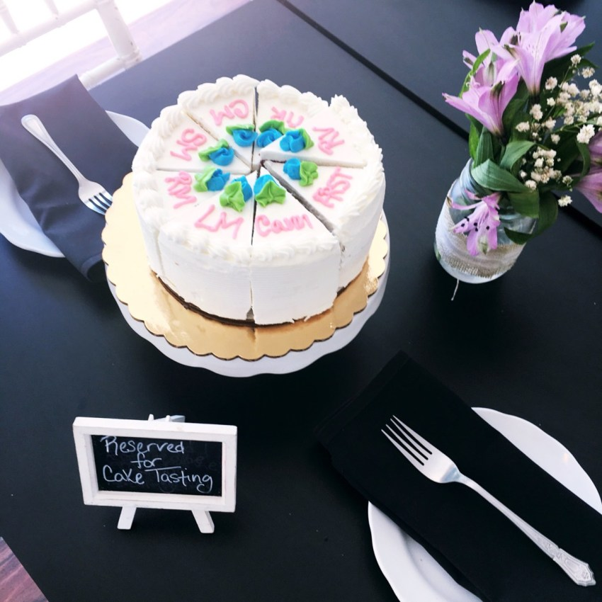 wedding cake tasting tips from cafe pierrot in andover nj