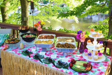 hawaiian luau tropical catering menu from pierrot catering in sussex morris county nj