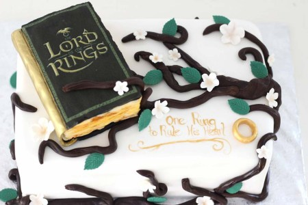 lord of the rings themed groom's cake by bakery in sussex morris county