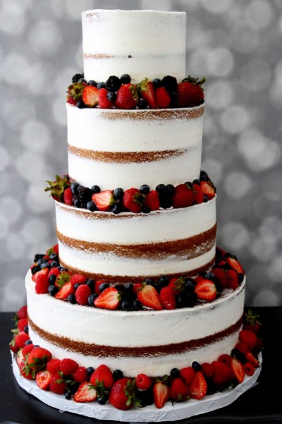 almost naked cake with fresh fruit from nj bakery cafe pierrot