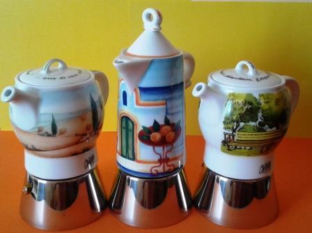 Kawiarki ceramiczne włoskiej marki AnCap. Kolorowe, solidne, odpowiednie na indukcję.