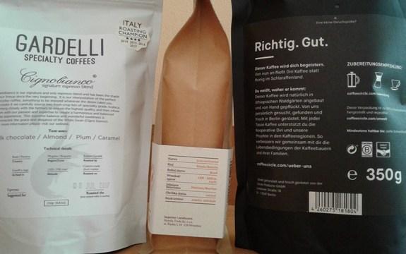 Na etykiecie kawy znajdziemy informacje m.in. o dacie palenia, profilu smakowym, polecanych metodach parzenia...