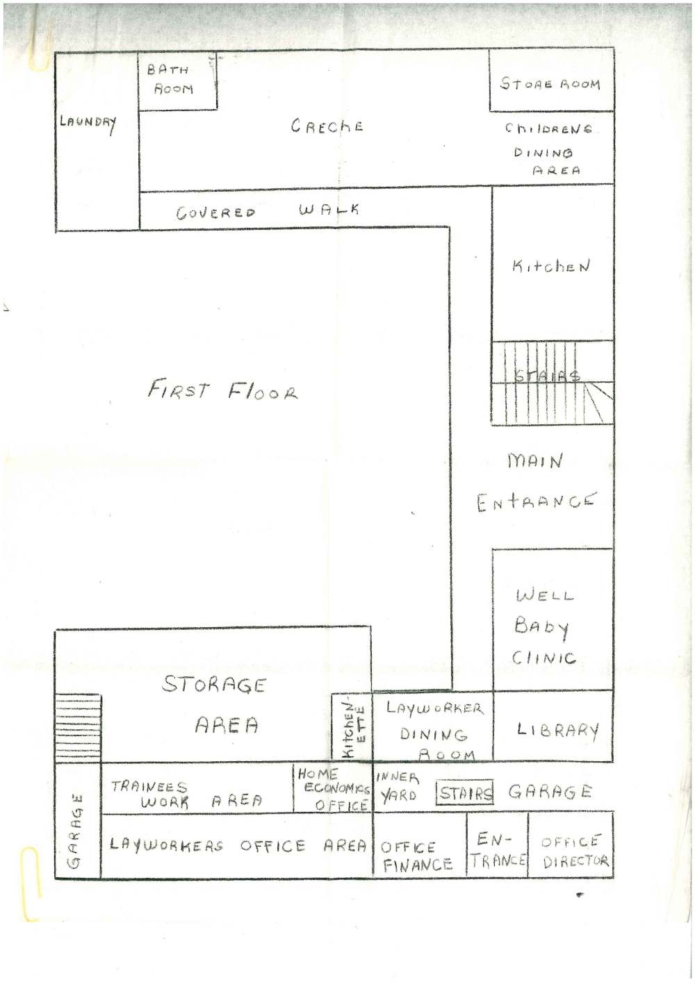 medium resolution of the ground floor plan of the new hospital dominica cafod