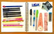 Pen case contents