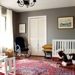 Traditional Living Rooms With Oriental Rugs Room Mantle No Fireplace Caitlin Wilson Decorating Persian Are Often Red And Blue I Love The Charcoal Grey Walls This Rug Fabulous