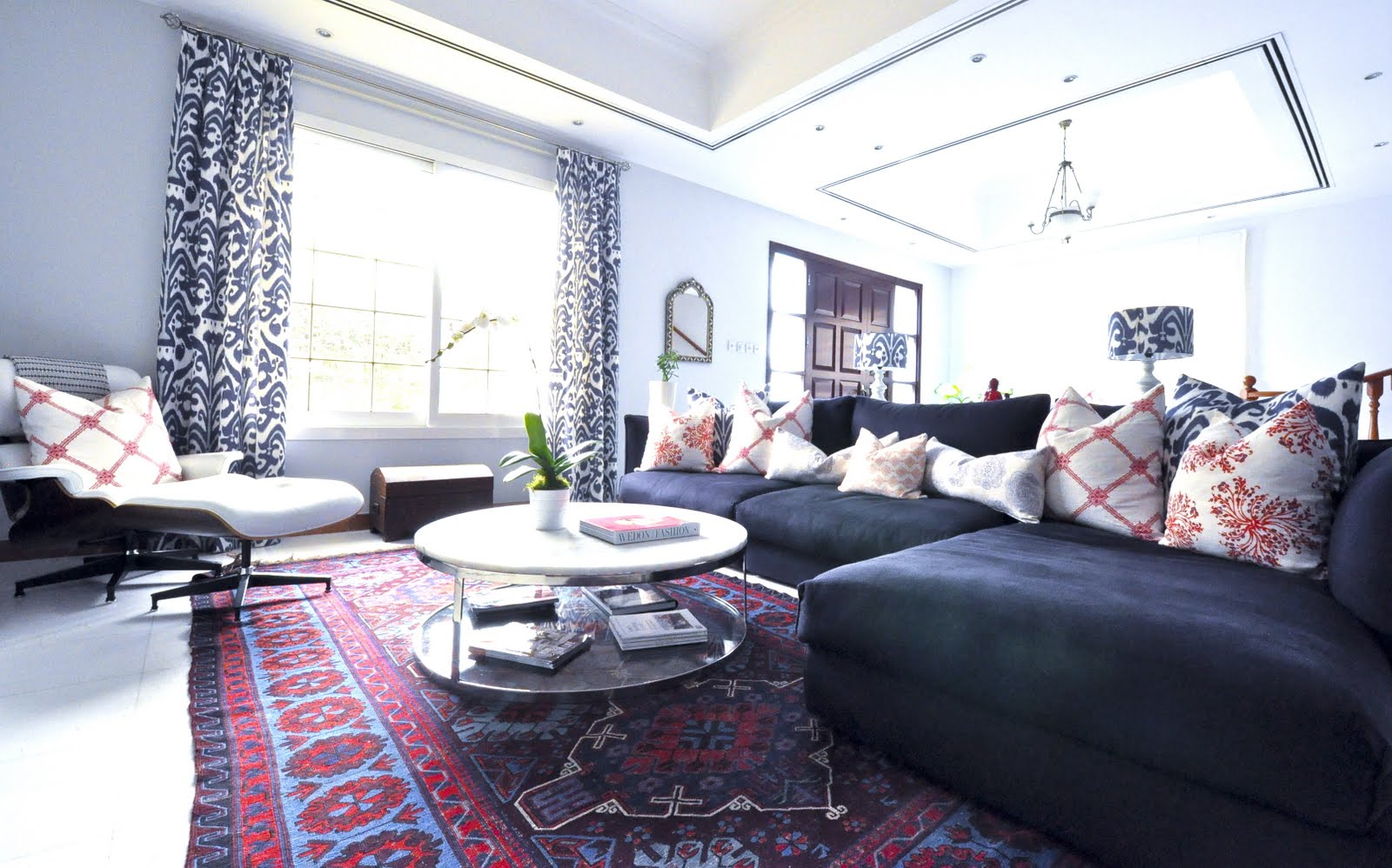 red rug living room ideas decorating a small that has fireplace caitlin wilson with persian rugs
