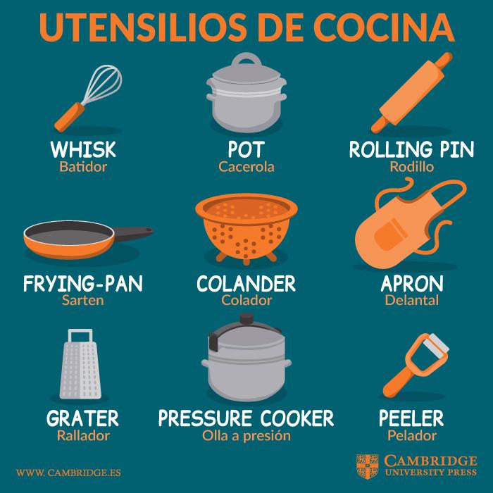 Utensilios de cocina en ingls  Blog Cambridge