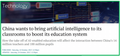 Artificial intelligence in the classroom