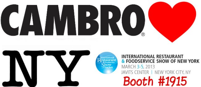 Cambro 2013 New York Restaurant Show