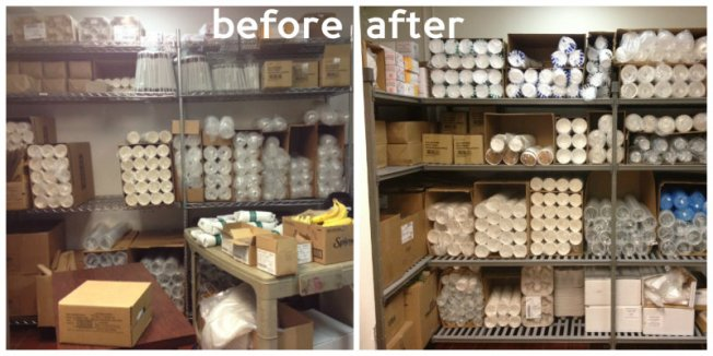 Before and After Cambro Basics Shelving