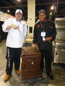 Hash House a Go Go Chefs with Cambro insulated transporter - Catersource - Las Vegas