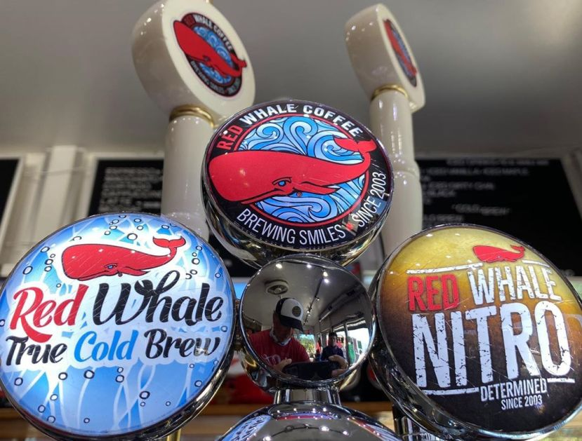 red whale coffee on tap