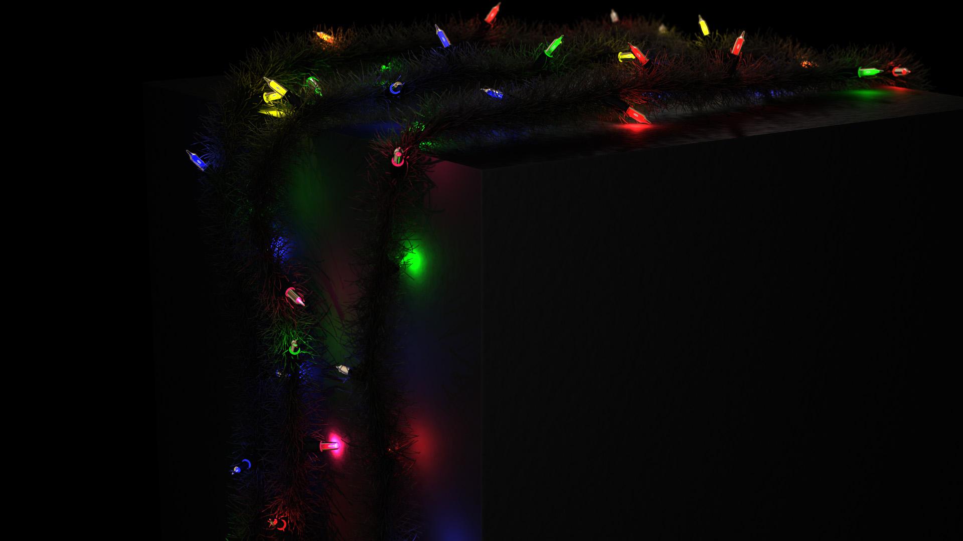 Christmas wreath with lights garland homemade creative handmade