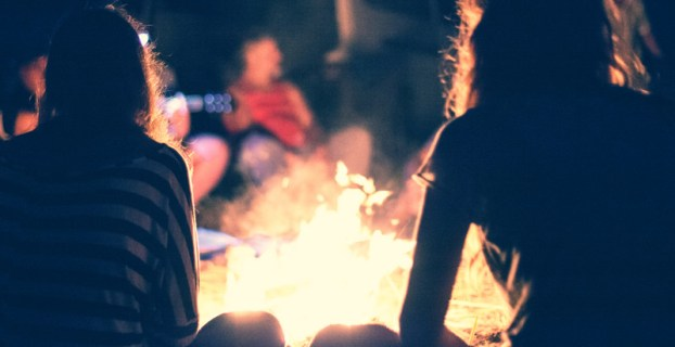 Late Night Bonfire - Camping With Friends