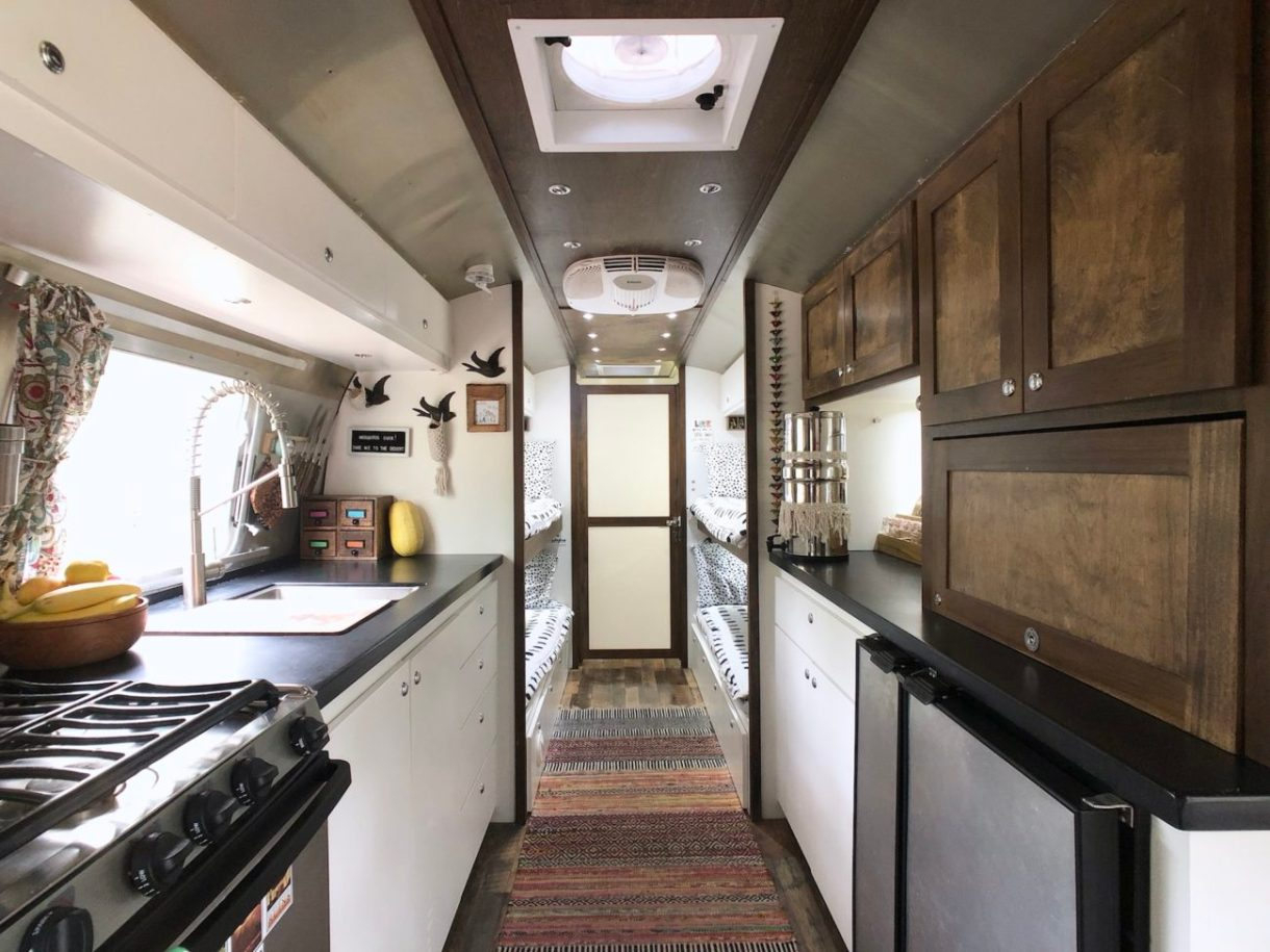 tiny shiny home airstream camper trailer after restoration