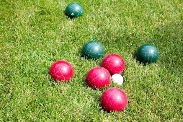 backyard camping bocce ball
