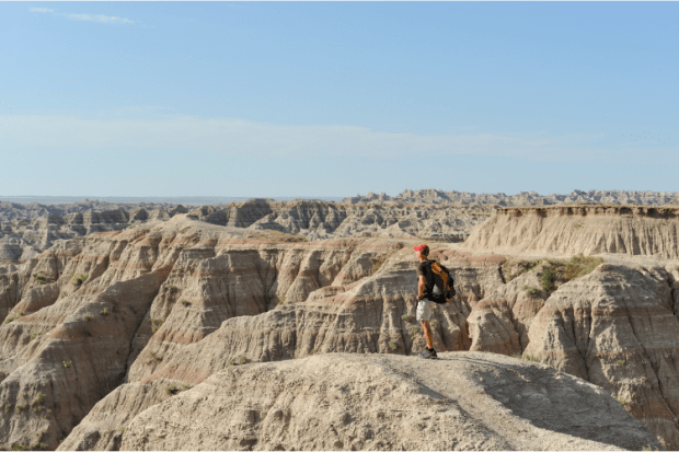 Mike Hiking in the Badlands National Park in South Dakota