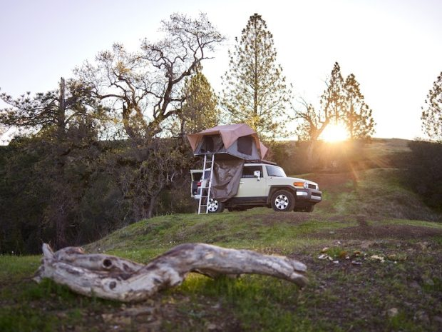 Truck Bed Camping in a Toyota FJ Cruiser
