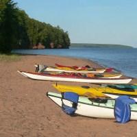 apostle islands camping in kayaks