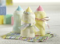 Marshmallow Bottles for a Baby Shower
