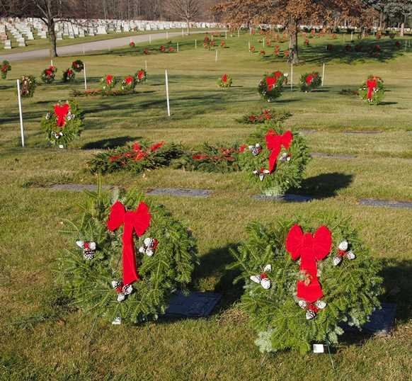 Christmas Decoration Program With Blankets Wreaths Available For Purchase
