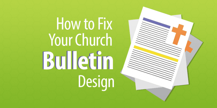 church bulletin design examples