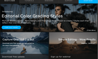capture one raw photo editor blogpost start up screen resource hub