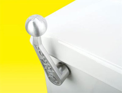 Downshift toilet handle