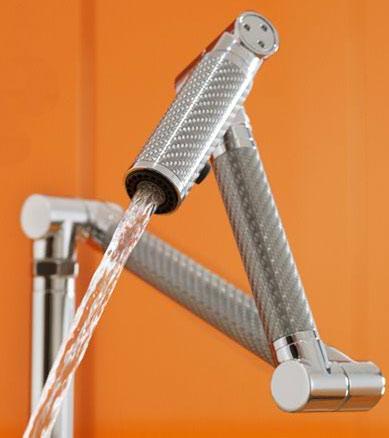 Kohler Karbon sink faucet closeup