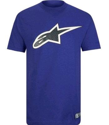 Alpinestars purple carbon fiber t-shirt