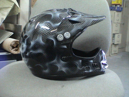 Carbon fiber airbrush pattern example
