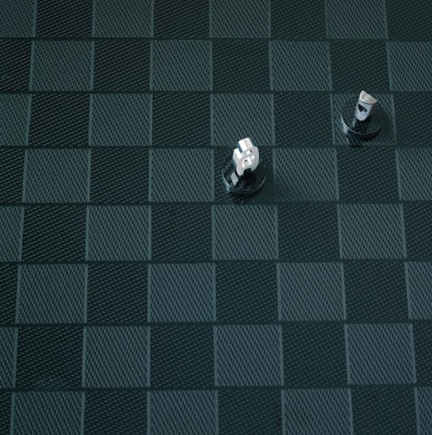 Carbon fiber F1 chess set