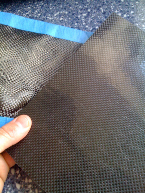 Carbon fiber fabric and our finished sheet.