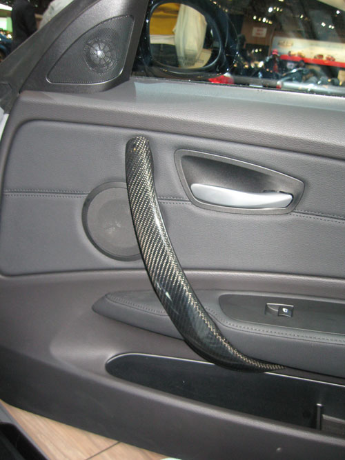 BMW 135i carbon fiber door handle