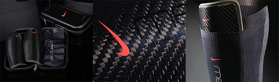Nike Mercurial Blade carbon fiber shin guards