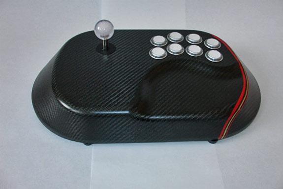 Custom carbon fiber gaming joystick