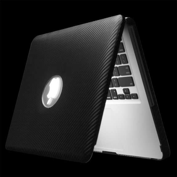 Carbon Fiber Leather Cushioning Love For Your MacBook Pro and MacBook Air
