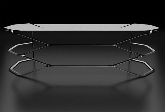 Carbon fiber hexa desk