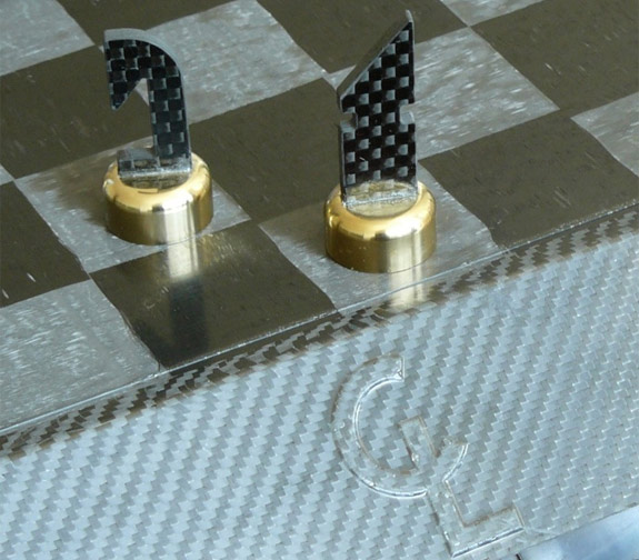 Carbon Luxury carbon fiber chess set