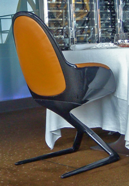 Le Jules Verne Eiffel Tower Restaurant Features Exclusively Molded Carbon Fiber Chairs