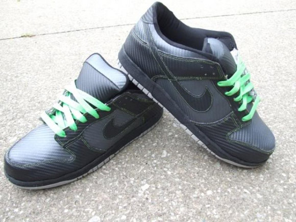 Custom carbon fiber Nike Dunk Lows
