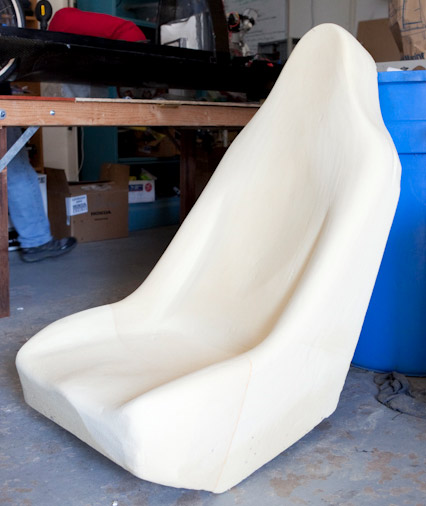Figure 2: Rough shaping of foam plug