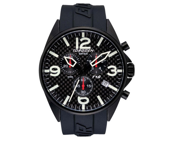 Torgoen T16302 carbon fiber watch