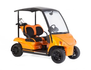 Garia carbon fiber golf cart with carbon fiber roof