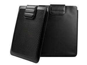Ion CarbonJacket carbon fiber and leather Apple iPad sleeve