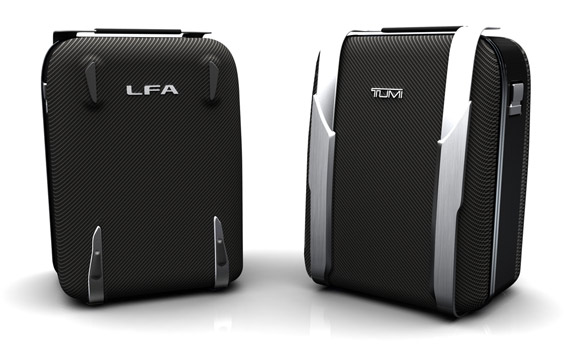 Tumi carbon fiber-like luggage for Lexus LFA