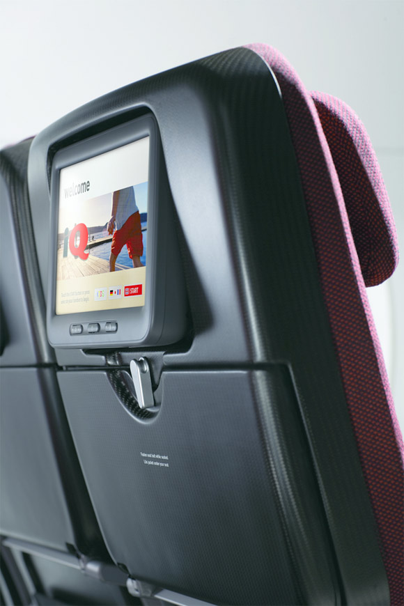 Qantas A380 carbon fiber seat